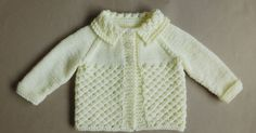 Danika means Morning Star (this design uses a version of star stitch) Danika Baby Jacket ~ with a Collar Danika Baby Jacket ~ without a Collar Danika Baby Jacket Requirements ~ DK yarn Source by lynleyharlen Jacket Baby Cardigan Knitting Pattern Free, Baby Sweater Patterns, Knit Baby Sweaters, Easy Knitting, Baby Knitting Patterns, Baby Patterns, Crochet Patterns, Knit Poncho, Vogue Patterns