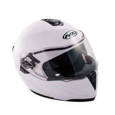 DOT Dual Visor Modular Flip Up Motorcycle Helmet Motocross Full Open Face-White XL