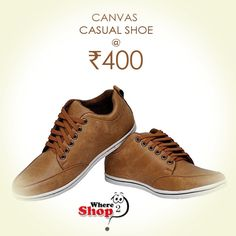 Buy Men's Casual Shoes online at best prices in India. Shop now@ http://www.where2shop.in/91/98047/215/Shc-Men-s-Tan-Casual-Shoe-10.html?n=fpost