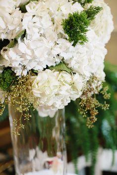 hydrangea wedding flowers ---inseason for a fall wedding ;)