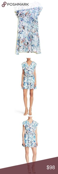 "Parker Lana Catalonia Floral Print Silk Dress Parker Lana Catalonia Floral Print Silk Dress - No flaws  Size: Small  Style:  Lana Shell:  100% silk Lining:  100% polyester  Chest:    36"" Waist:    32"" Hip:      38"" Length:   34"" Parker Dresses Mini"