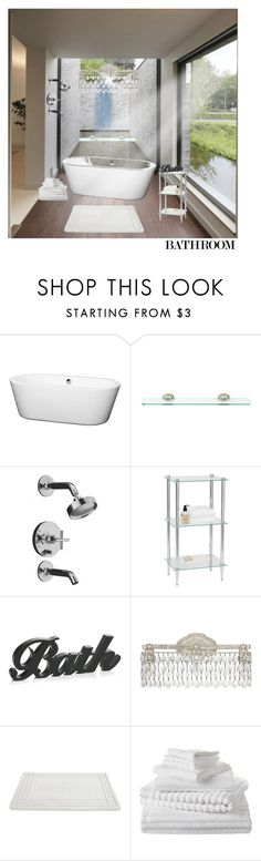 """beautiful bathroom..."" by enid23 ❤ liked on Polyvore featuring interior, interiors, interior design, home, home decor, interior decorating, Wyndham Collection, Sabichi, Kohler and Creative Bath Products"
