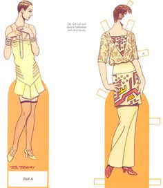 """Tom Tierney paper dolls.*1500 free paper dolls at Arielle Gabriel""""s The International Paper Doll Society and free Chinese Japanese paper dolls at The China Adventures of Arielle Gabriel *"""