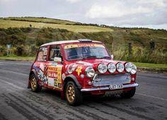 Rally Minis Are My Favourite Minis Mini Cooper S, Isle Of Man, Modified Cars, Rally Car, Classic Mini, Mini Me, Old Skool, Hot Rods, Monster Trucks