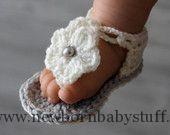 Crochet Baby Booties Crochet Baby Sandals, Baby Girl Sandals, Baby Gladiator Sand...