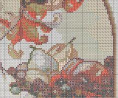 Borduurpatroon Kruissteek Mucha *Embroidery Cross Stitch Pattern ~Fruit (1897) 6/10~