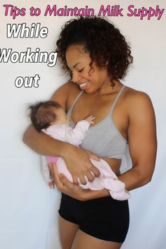 Tips to maintain milk supply while losing weight postpartum. #LoseWeightWhileBreastfeeding