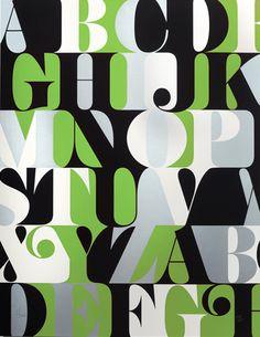 Green Caslon Alphabet Print from House Industries