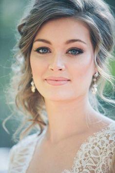 - Peinados y pelo 2017 para hombre y mujeres Beautiful Bridal Makeup, Bridal Hair And Makeup, Bride Makeup, Wedding Hair And Makeup, Wedding Beauty, Hair Makeup, Pretty Hairstyles, Wedding Hairstyles, Wedding Makeover
