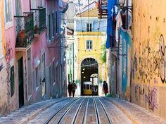 Las únicas calles de Lisboa, Portugal.