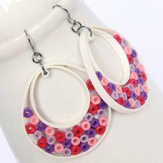 FREE worldwide shipping on orders over $60 using coupon code FREESHIP13 Big Hoop Earrings Niobium Earring Hooks Pink Purple by HoneysHive, $50.00