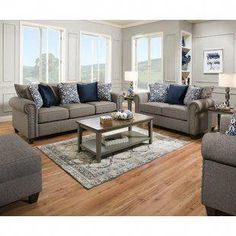 Laurel Foundry Modern Farmhouse Rosalie Configurable Living Room Set |  Wayfair #cheaplivingroomsets