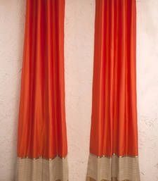 Buy Orange silk Curtains other-home-furnishing online