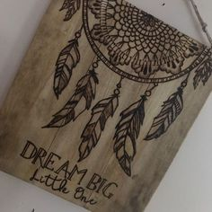BoutiqueBarn shared a new photo on Etsy : Catch some dreams! I really enjoyed burning this dream catcher. I so admire the American Indian eye for design with such a sweet purpose! Had your add a bear and dear to complete this sweet trio! Wood Burning Tips, Wood Burning Crafts, Wood Burning Patterns, Wood Crafts, Wood Burning Projects, Wood Burning Stencils, Tribal Nursery, Indian Nursery, Western Nursery