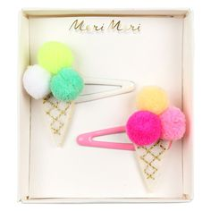 Pom Pom Ice Cream Hair Slides by Meri Meri Stylish Kids