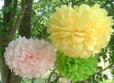 Tissue paper poms, Wedding decorations, Baby shower, Wedding anniversary, Bridal party, Party Set of 10  Listing Stats