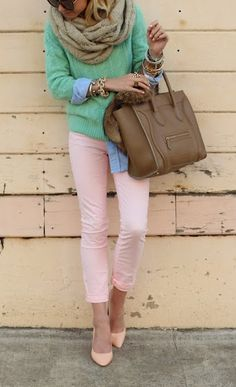 I don't ever wear pink, but I'd be willing to try in a skinny jean paired with a bold colored top.