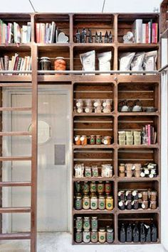 Inspirational Homes: - Kitchen Butlers Pantry, Kitchen Office, Butler Pantry, Converted Closet, Converted Barn Homes, Vintage Pantry, Bungalow Kitchen, Retail Signage, Multipurpose Room