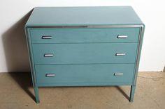 simmons metal furniture. Simmons Metal Furniture. Art Deco Norman Bel Geddes For Rare Colored Teal, Aqua Furniture