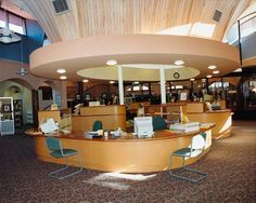 library design | 1994 Eltham Library circulation desk