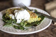 Zucchini, Kale and Leek Fritters