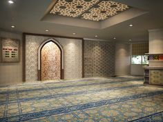 Design Inspirations for a Prayer Room at Home - CasaNesia Mosque Architecture, Interior Architecture, Interior And Exterior, Interior Design, Islamic Decor, Islamic Art, Prayer Corner, Islamic Center, Islamic Prayer