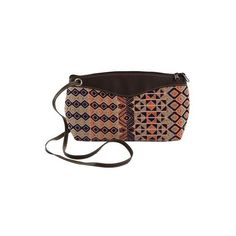 NOVICA Hand Woven Cotton Leather Accent Shoulder Bag (1.325 CZK) ❤ liked on Polyvore featuring bags, handbags, shoulder bags, accessories, brown, clothing & accessories, slings, shoulder sling bag, hand bags and handbag purse