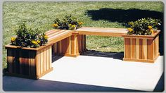 Planter Bench Woodworking and Furniture Plans