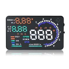 5.5INCH HUD A8 Car Alarm System OBD2 EUOBD Interface Head Up Display Overspeed Warning Automobile Windshied Project