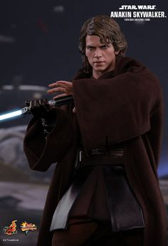 Hot Toys : Star Wars Episode III: Revenge of the Sith - Anakin Skywalker scale Collectible Figure Star Wars Figurines, Star Wars Toys, Star Wars Art, Anakin Darth Vader, Anakin Skywalker, Star Wars Collection, Star Wars Characters, Star Wars Episodes, Coleccionables Sideshow