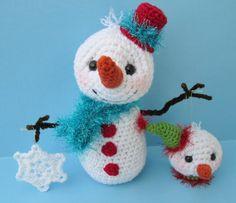 Crochet Pattern Snowman with Ornaments by Teri por TeriCrewsCrochet