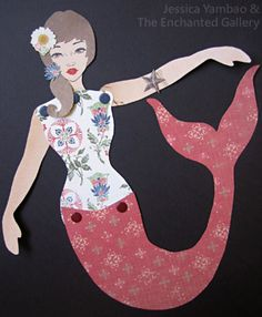 Art Doll Template, The Enchanted Gallery - How to make a paper doll decorated by rubber stamping!