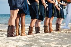 Who says you can't wear cowboy boots on the beach?