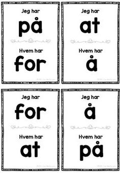 Jeg har, hvem har - Høyfrekvente ord Early Years Maths, Infant Lesson Plans, Sensory Diet, Language Development, Project Based Learning, Early Education, Early Learning, Early Childhood, Literacy
