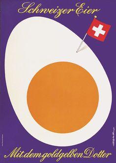 Swiss Eggs promotional poster  ~ Niklaus Stoecklin