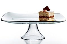 Circleware Chic Large Square Clear Glass Cake Serving Food Dish ** Details can be found by clicking on the image.