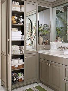 40+ Genius Bathroom Cabinet Storage Ideas