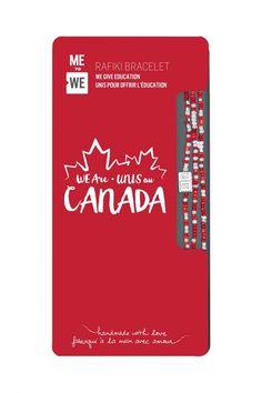 WE are Canada Rafiki Bracelet - Red & White Christmas Wishlist 2017, Red And White, Canada, Bracelet, Education, Love, Cool Stuff, Handmade, Amor