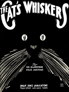 Cat's Whiskers Vintage Sheet Music
