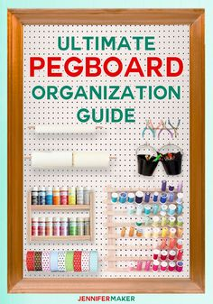 Ultimate Pegboard Organisation Guide for Craft Rooms – Jennifer Maker – Craft Storage and Craft Organization Ideas – odcraft Craft Room Design, Craft Room Decor, Craft Room Storage, Pegboard Craft Room, Ikea Pegboard, Painted Pegboard, Kitchen Pegboard, Pegboard Storage, Room Decorations