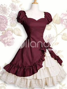 vestidos utilizas por algumas subdivisão do estilo          Classical Lolita       Punk Lolita       Sweet Lolita       Gothic Lolita   ...