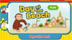 Juego en el que Jorge el Curioso ayuda a construir castillos de arena a nuestros peques.