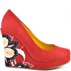 8f5f3d40031 Ophelia Wedge - Red by Ed Hardy Wedge Heels