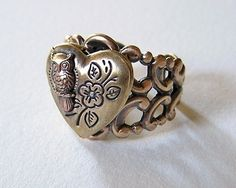 steampunk ring with owl ... fav.