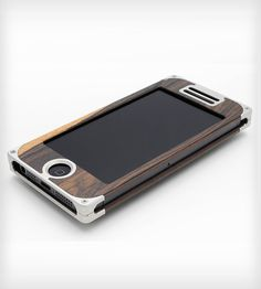 Aluminum & Wood Composite iPhone 5 Case