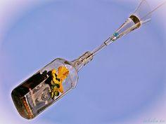 """Drugie życie butelki ✿ DONICA PRZESTRZENNA Z ŁAPACZEM DESZCZU✿ """"...z potrzeby serca i ku radości sprawnych dłoni...""""  w GALERII MIĘDZY NIEBEM A ZIEMIĄ"""