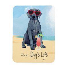 Summer Great Dane Magnet   husky pug, gage gifts funny, pug memes humor #christmasiscoming #pugtoy #pug Art Beagle, Beagle Dog, Pug Pillow, Bulldog Puppies, Funny Bulldog, Yorkie Puppy, Dog Artwork, Hiking Dogs, Custom Beach Towels