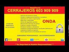 Cerrajeros Onda 603 909 909 Rápidos