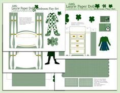 Free St. Patrick's Day paper doll printable