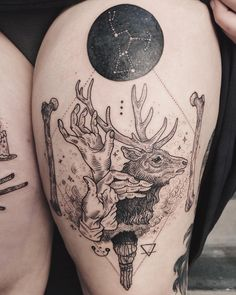 Stag shadow puppet with orion, bone, and sage. Thanks Nye! Leg 2 of 2 - see them together on @tenderfootstudio